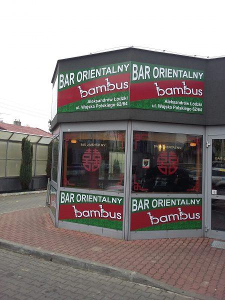 oklejanie witryn Łódź i Aleksandrów Łódzki - bar