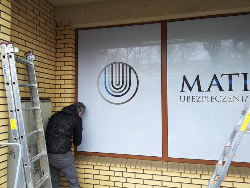 oklejanie witryn Łódź - MATI ubezpieczenia