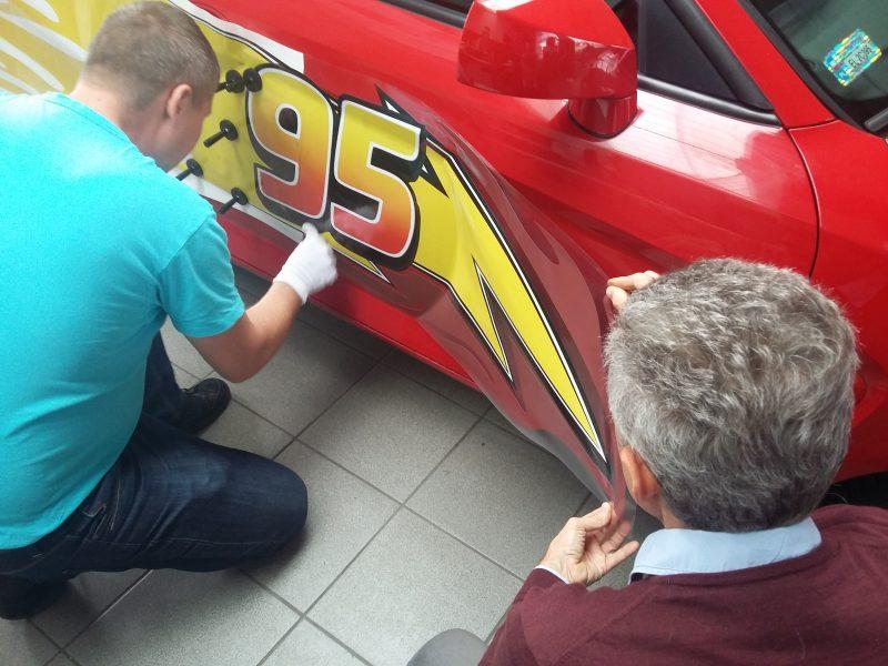 oklejanie samochodów Łódź McQueen