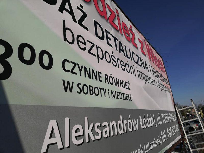 druka banerów reklamowych Łódź i Aleksandrów Łódzki